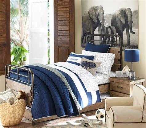 pottery barn boys bedding branson reversible quilted bedding pottery barn kids