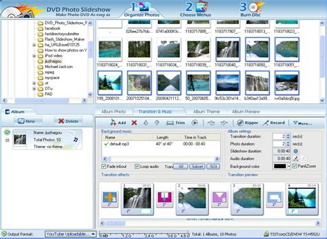 themes photo slideshow creator youtube slideshow maker software youtube photo