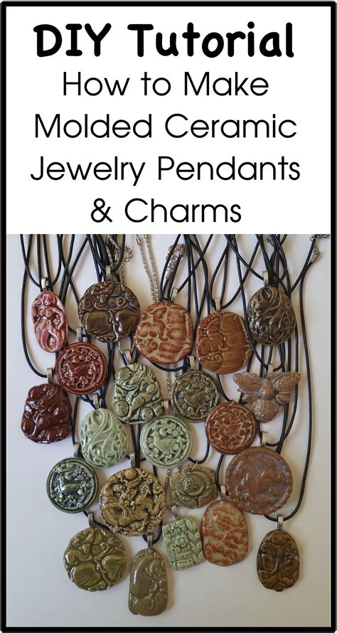 how to make porcelain jewelry how to make molded ceramic jewelry pendants and charms