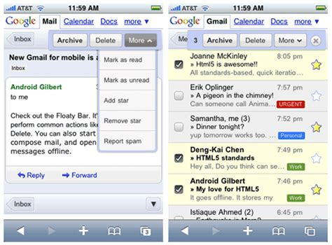 gmail mobile tests a new mobile gmail interface
