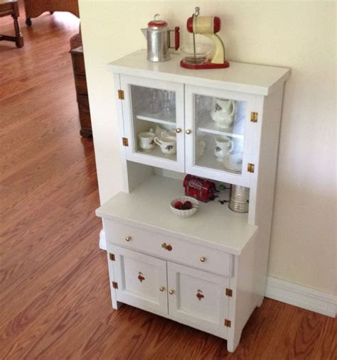 pretend kitchen furniture vintage child s play kitchen cupboard hutch wood step back cabinet furniture in toys hobbies