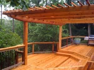 Backyard Concrete Designs Cedar Deck Pictures