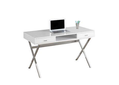 white computer desk walmart monarch specialties glossy white computer desk walmart ca
