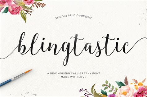 blingtastic script script fonts on creative market