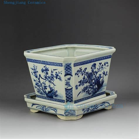 Chinese Blue And White Ceramic Planter Buy Planter Blue And White Planters