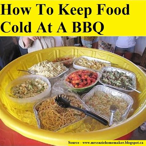 how to keep food on a buffet table how to keep food cold at a bbq for more creative tips