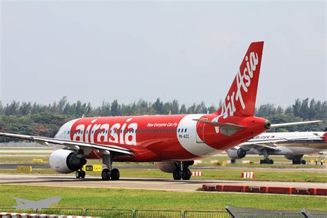 airasia airbus a320 indonesia airasia airbus a320 pk azc jetblast photography