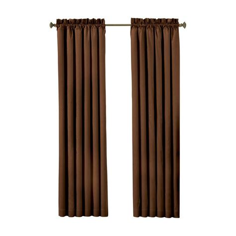 blackout curtains 63 length eclipse canova blackout chocolate curtain panel 63 in