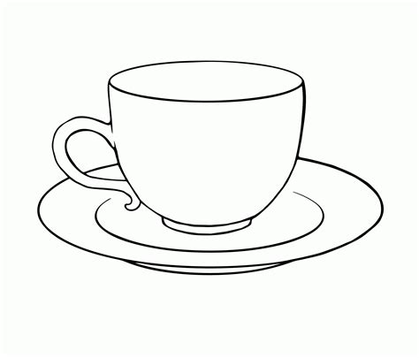 tea cup clip tea cup colouring page clipart free to use clip