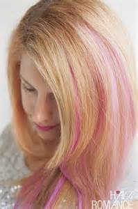 pink highlighted hair 50 how to diy pink highlights in your hair hair romance