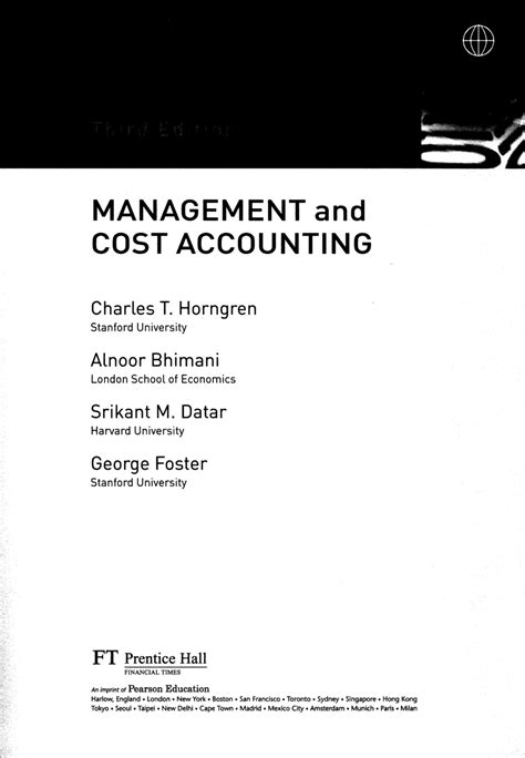 Cost And Management Accounting Pdf For Mba by Management And Cost Accounting Pdf Available