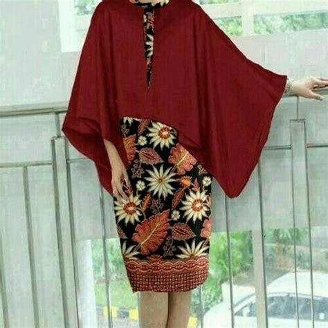 Baju Olshop baju olshop baju batik batwing untuk pesta dan kondangan preloved fesyen wanita pakaian wanita