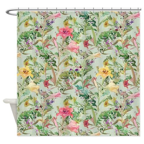 flower pattern curtains colorful floral pattern shower curtain by graphicallusions