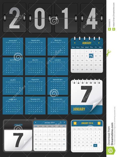 Set Calendar Calendar Set Stock Photos Image 33266073