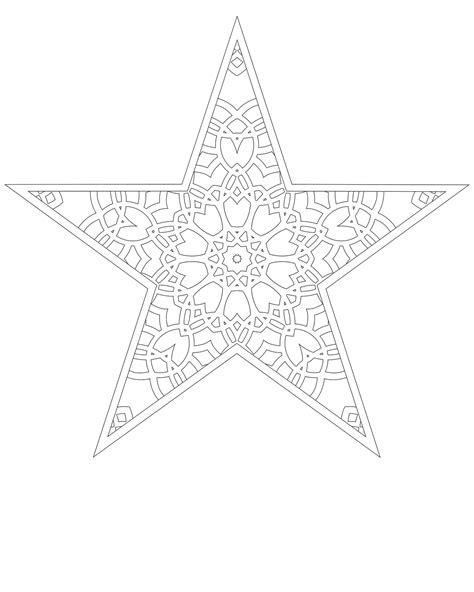 Don T Eat The Paste Printable Paper Star Tree Topper Tree Topper Coloring Page