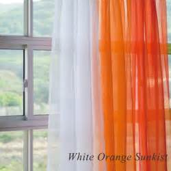 Orange And White Curtains Orange And White Sheer Curtains
