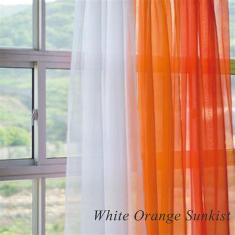 Sheer Orange Curtains Orange And White Sheer Curtains
