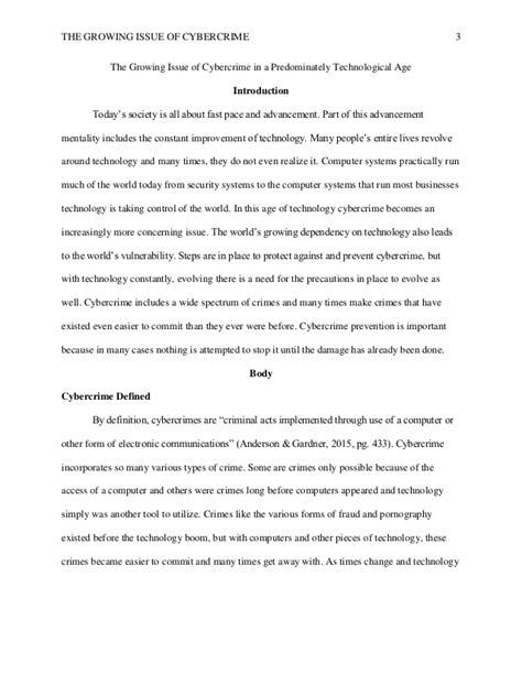 Cyber Crime Essay Introduction by Cybercrime Research Paper