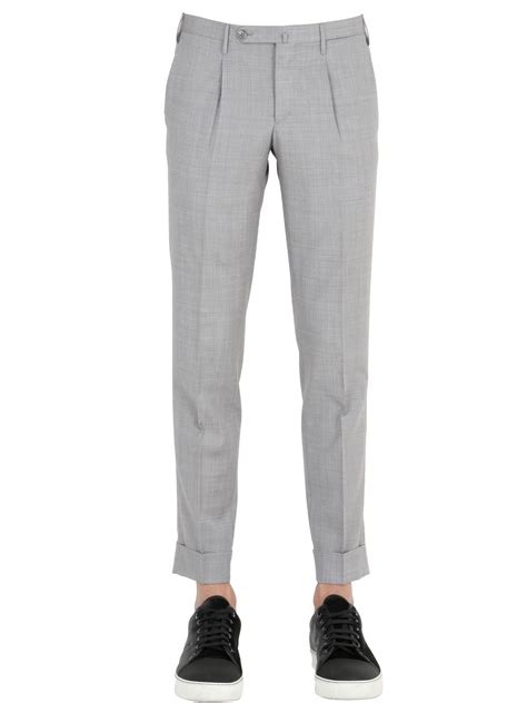 mens light grey sweatpants lyst gta 17cm extra slim cropped cool wool pants in gray
