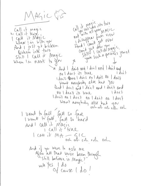 coldplay magic lyrics ghost stories the coldplay timeline