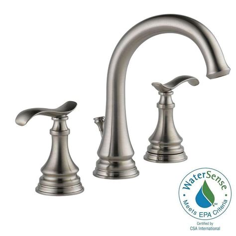 delta brushed nickel kitchen faucet delta kinley 8 in widespread 2 handle bathroom faucet in