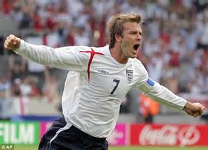 David Beckham Injures Knee In Soccer Match by Ecuador 2 2 Match Report Three Lions Draw But