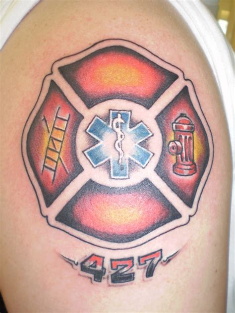pointed cross tattoo firefighter tattoos maltese cross www imgkid the