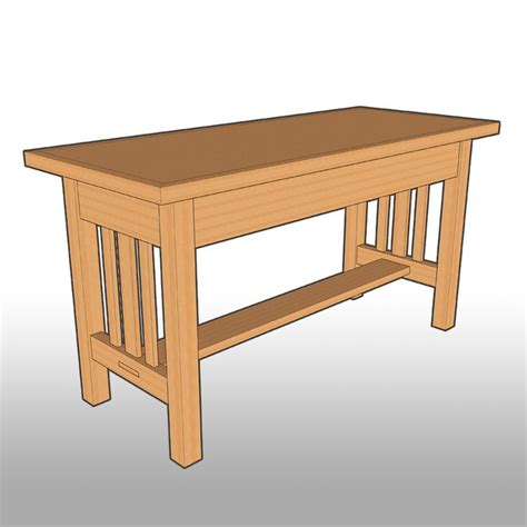 craftsman style bench mission style dining room table plans free woodworking