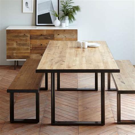West Elm Kitchen Table Industrial Oak Steel Dining Table Herringbone Hardwood Floors West Elm Home Sweet Home