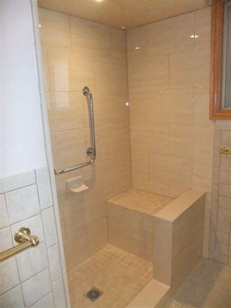 custom shower stalls with seat index of gallery photos bathrooms custom showers