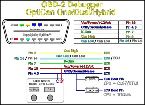 obd2 connector to usb wiring diagram obd 2 connector