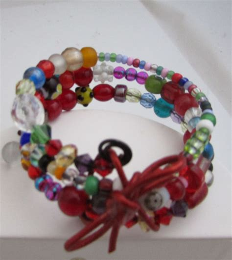 Fancy Lampwork and assorted glass beads bracelet.   JewelryMADEfromHOME on ArtFire