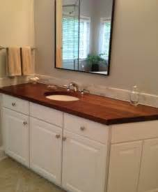 Wood Bathroom Countertop Wood Countertops Nc Traditional Vanity