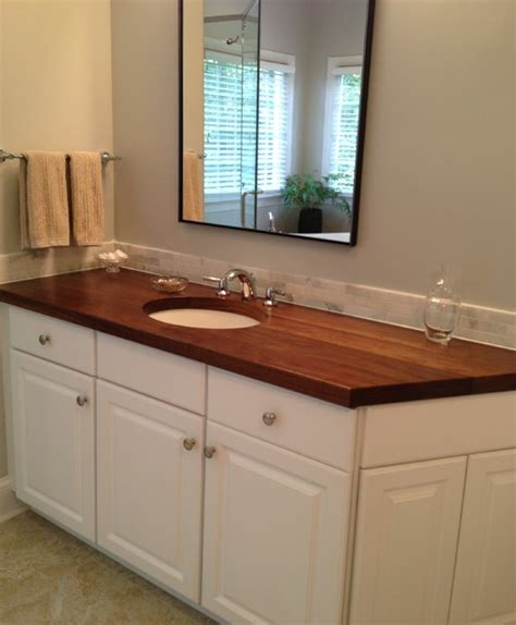 Bathroom Vanities And Countertops Butcher Block Countertops In Bathroom Bathroom Design Ideas