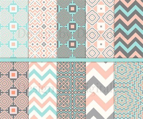 geometric digital paper pack tribal digital paper 12x12