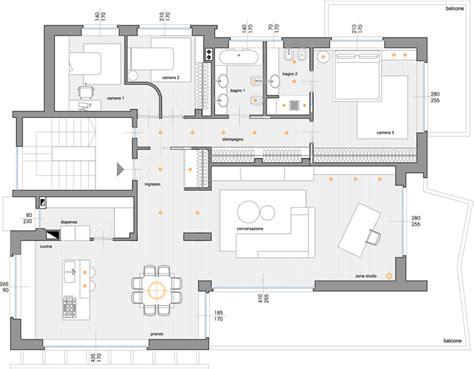 pianta di appartamento abitazione i relisa rizzi architetto