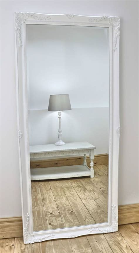 shabby chic length mirror shabby chic floor mirror ourcozycatcottage