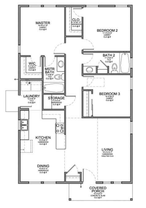 3 bedroom cottage floor plans small cabin plans 3 bedroom house floor plans