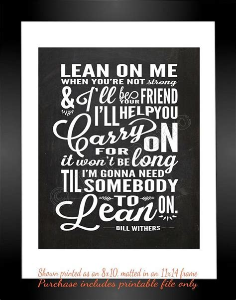 printable lyrics to gift of a friend by demi lovato lean on me song lyrics instant download printable
