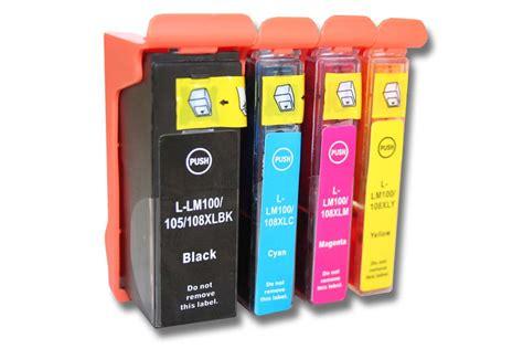 Tinta Lexmark 100xl Colour Cyan Magenta Yellow Lexm Murah 4x cartucho tinta negro y color para lexmark impact s305 s405