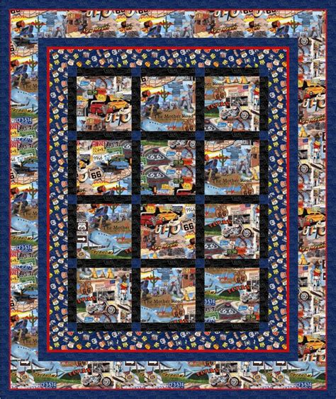Route 66 Quilt Pattern by Quilt Craft Distributors Pattern From Hedgehog Quilts
