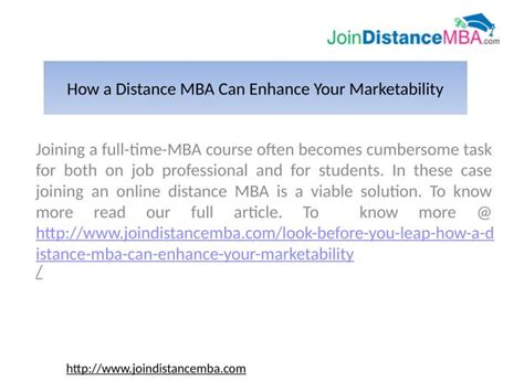 How To Join Mba Correspondence by Ppt Time Mba Vs Distance Mba In India Powerpoint