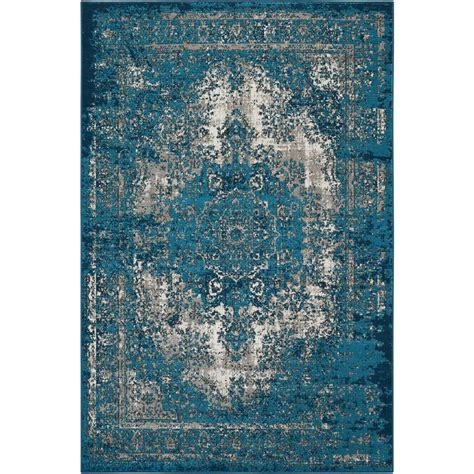 10 X 10 Ft Area Rugs - nourison teal 7 ft 10 in x 10 ft area rug 372963