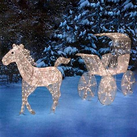lighted christmas horse and carriage outdoor lighted carriage display jpg 1 600 215 1 600 pixels big outside