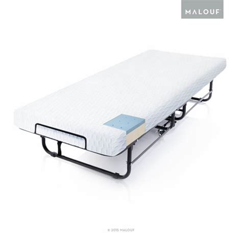 folding rollaway bed rollaway folding guest bed with premium gel memory foam