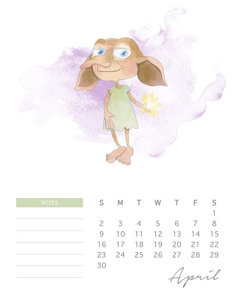 Calendar Harry Potter Free Printable 2017 Harry Potter Calendar The Cottage Market