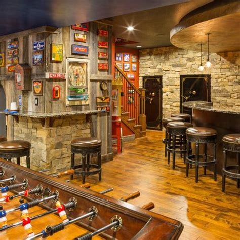 basement bar rustic cave basement
