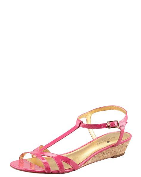 kate spade pink sandals kate spade violet cork wedge sandal pink in pink lyst