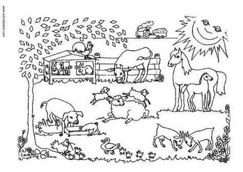 imagenes de animales de granja para colorear dibujos infantiles de granjas con animales para pintar