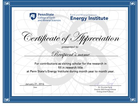 design energy certificate certificate of appreciation contribution choice image